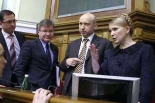 Тимошенко придет в Раду перед голосованием за свою отставку