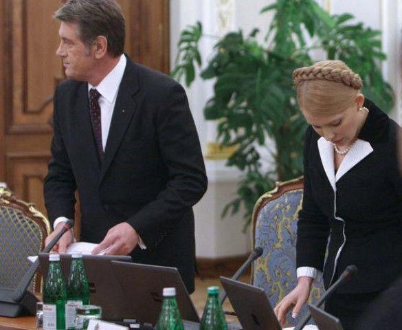Віктор Ющенко, Юлія Тимошенко, РНБО