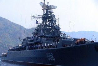 В Севастополь прибыл корабль США (обновленное видео)