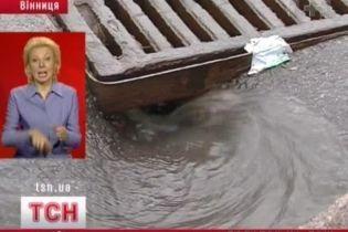 В Виннице ввели налог на дождь (видео)