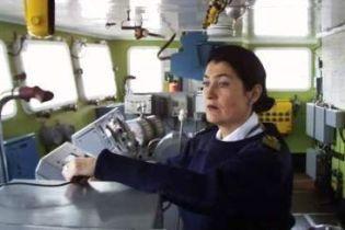 """Единственная в Украине женщина-капитан имеет 25 лет """"морского"""" стажа (видео)"""
