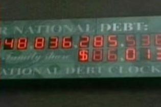 У счетчика, который показывает внешний долг США, закончились цифры (видео)