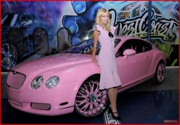 періс хілтон, рожева машина