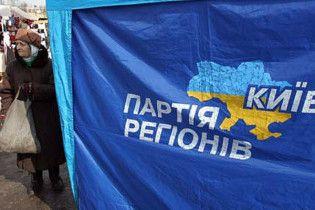 Украинские террористы сожгли киевский офис Партии регионов