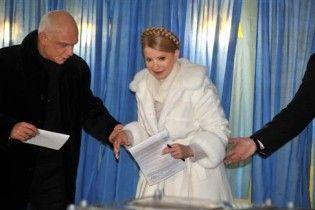 Тимошенко проголосовала в родном Днепропетровске
