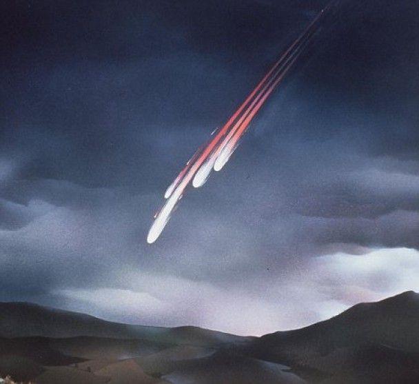 Над Ирландией взорвался астероид