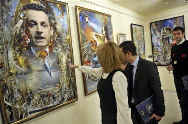 Отец Николя Саркози нарисовал портрет Карлы Бруни