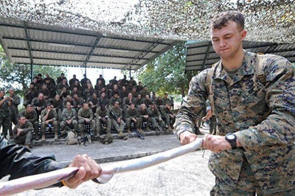 Военных учат есть скорпионов