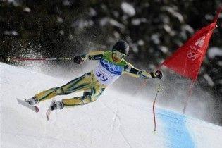 Горнолыжник чуть не сбил человека на олимпийской трассе