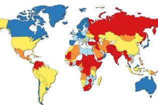 Карта мирового терроризма: в России жить опаснее, чем в Непале