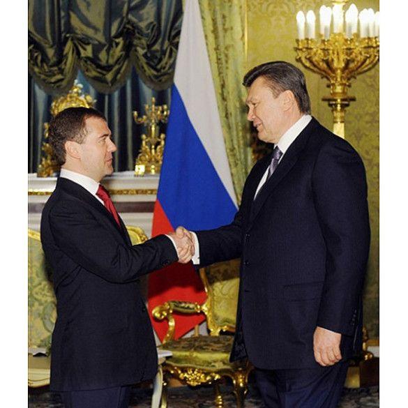 Віктор Янукович, Дмитро Мєдвєдєв