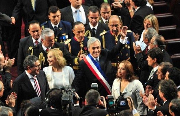 Во время инаугурации президента Чили произошло мощное землетрясение