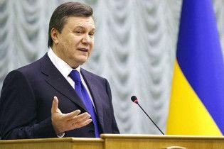Янукович передал прикарпатцам, что не сердится за яйца