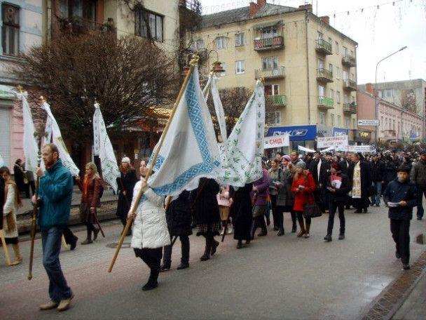 В Ивано-Франковске прошел марш против гомосексуалистов