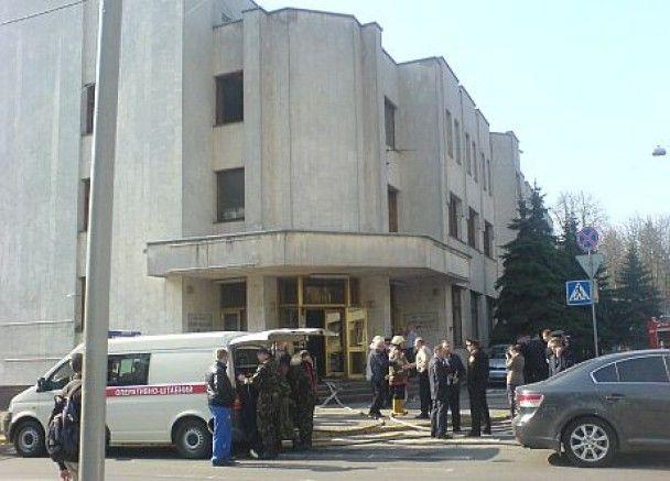 В здании МВД в Киеве произошел пожар