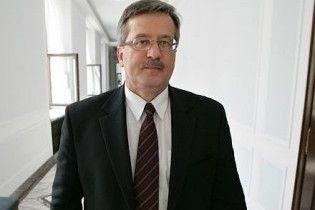 Обязанности президента Польши будет исполнять маршал сейма Коморовский