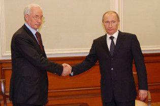 Азаров поблагодарил Путина за дружбу с Россией
