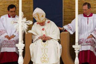 Папа Римский заснул во время мессы