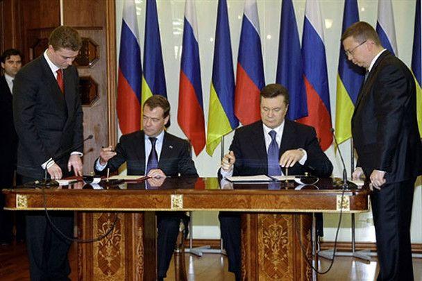 Янукович встретил в Харькове Медведева