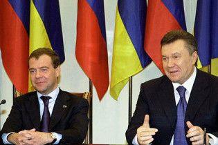 Янукович и Медведев договорятся о стратегическом сотрудничестве на 10 лет