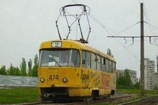 Во Львове сгорел трамвай