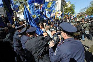 БЮТ: милиция требует от оппозиции списки участников митинга под Радой
