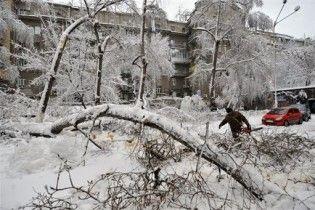 Из-за снегопадов в некоторых областях Украины перекрыли дороги