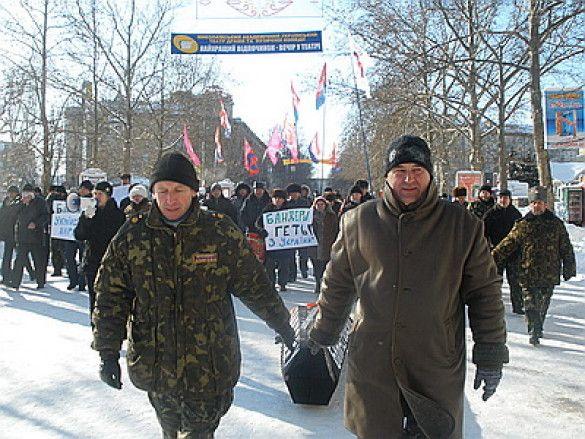Похорон Бандери в Миколаєві
