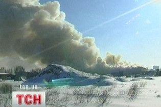 В Винницкой области горело хранилище нефтепродуктов