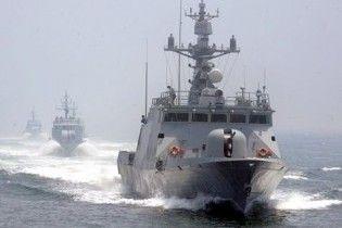 В Желтом море неизвестное судно атаковало южнокорейский военный корабль