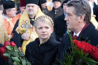 Тимошенко с Ющенко на могиле поговорили об антиукраинских силах