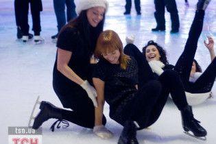 Как Катеринчуки на коньках катались, а REAL O падали