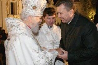 Митрополит Владимир благословил Януковича на президентство