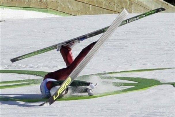 Украинский летающий лыжник разбился в Ванкувере