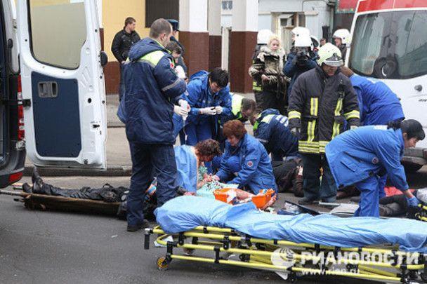 Взрывы в метро в центре Москвы