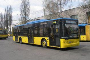 В понедельник утром в Киеве на маршруты не вышли троллейбусы