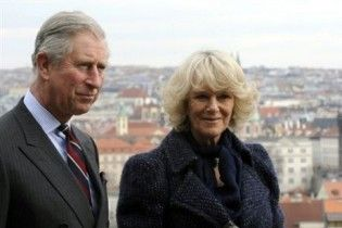 Протестующие студенты в Лондоне ткнули палкой жену принца Чарльза