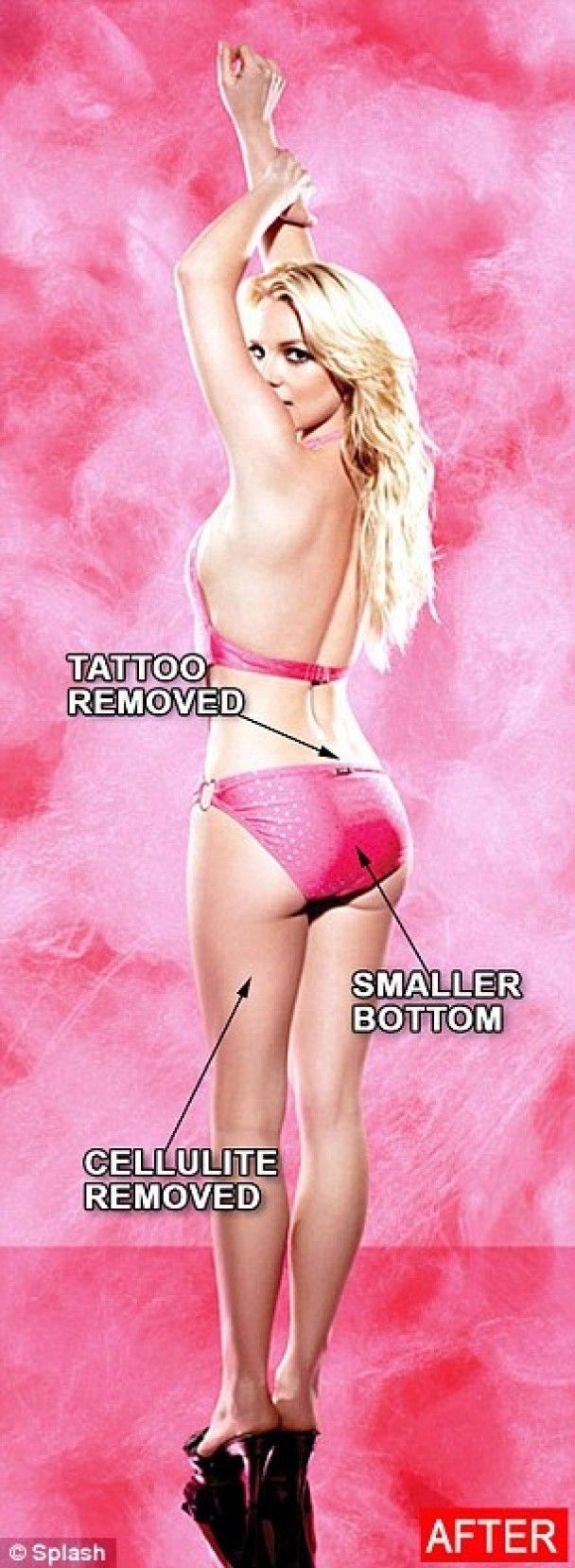 Бритни Спирс показала целлюлитные снимки без фотошопа