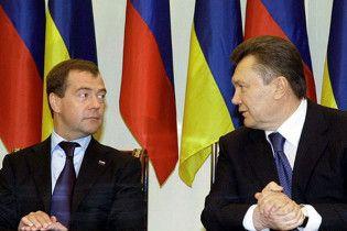 Янукович и Медведев договорились соединить Крым с Россией