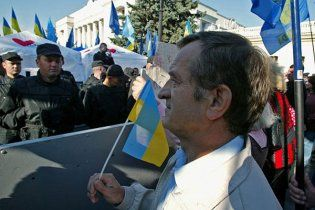 Киевская милиция не позволила оппозиции защищать украинский язык