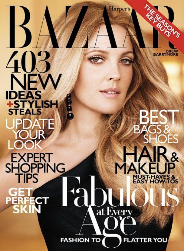 Дрю Бэрримор снялась для Harper's Bazaar