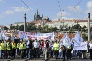 40 тисяч людей протестували в Празі проти скорочення окладів держслужбовцям