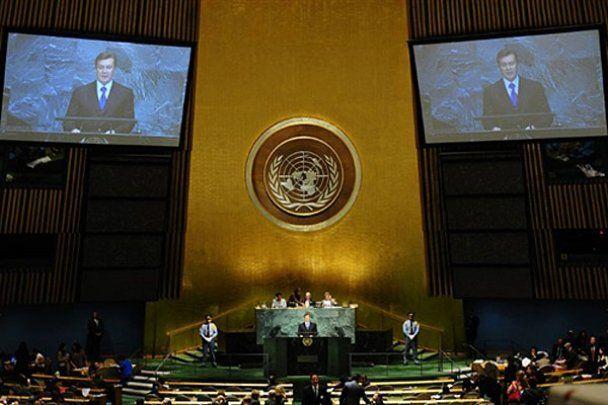 Янукович виступив на саміті тисячоліття в Нью-Йорку