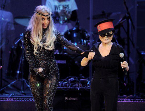Lady GaGa и Йоко Оно выступили вместе