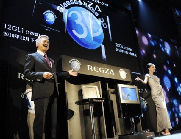 Toshiba представила перші 3D-телевізори, які не потребують окулярів