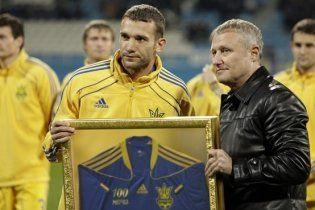 Шевченко зіграв 100 матчів за збірну України