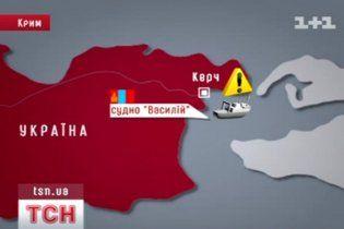 Поиски пропавших в районе Керчи моряков прекратили из-за темноты
