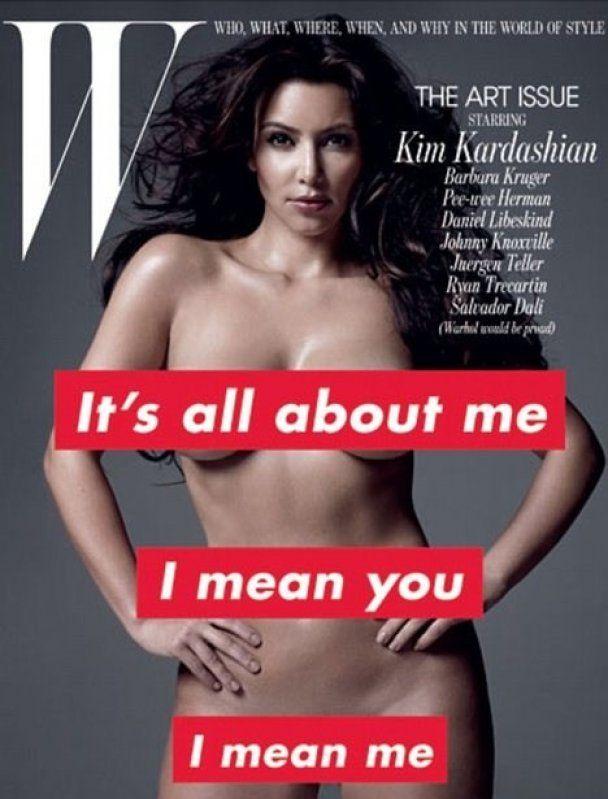 Ким Кардашьян обнажилась для W