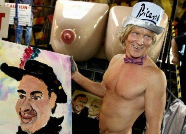 Художник Прикассо покорил Германию, нарисовав картину пенисом