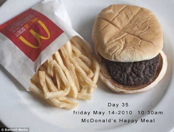 Еда из McDonald's не разлагается полгода